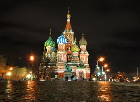 kremlin: Sint Basilius Kathedraal in Moskou Stockfoto