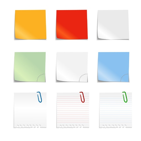notices: Colorful papers