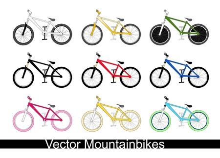 mountain bikes Illustration