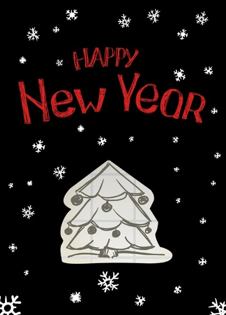 Happy new year tree Vector