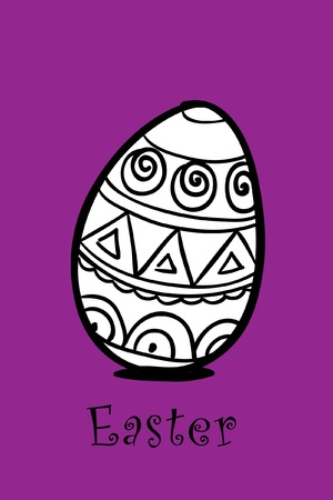 egg on violet Vector
