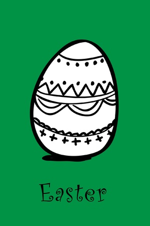 pasqua: egg on green Illustration