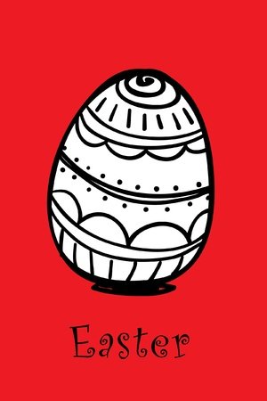 osterhase: egg on red