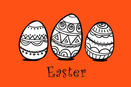 osterhase: Easter eggs illustration