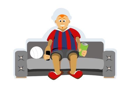 football fan: Football fan Illustration