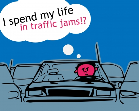 i spend my life in traffic jam! Stock Vector - 11258816