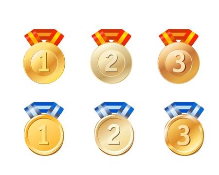 medals set Stock Vector - 11258142