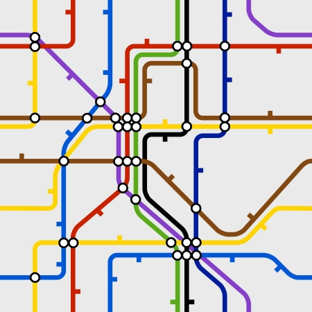 지하에: 지하철 계획의 원활한 배경 일러스트