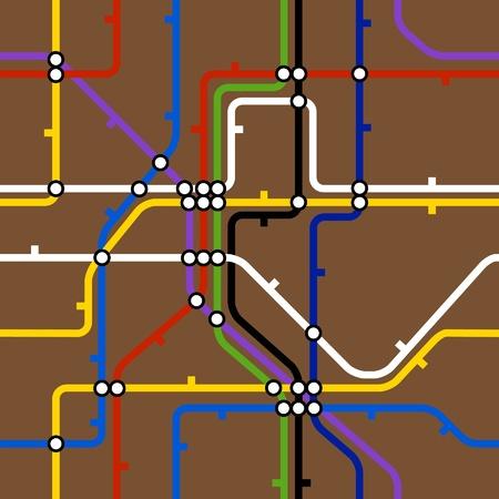 Seamless background of metro scheme Vector