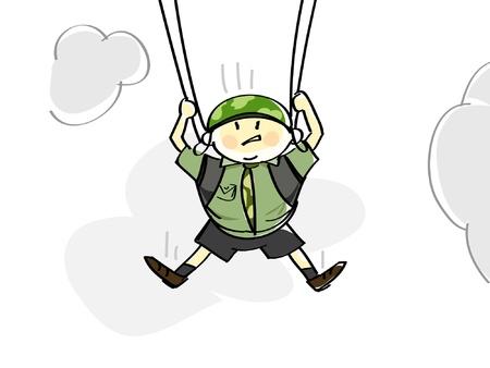 slings:  parachutist