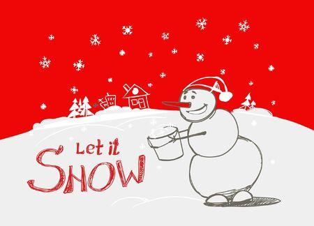Let it snow! Stock Vector - 11259287