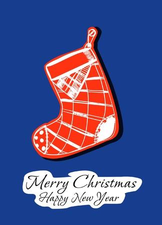 greetings card:  Happy Christmas!