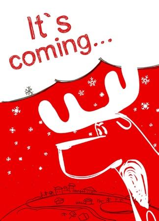 Christmas Elk Stock Vector - 11259292