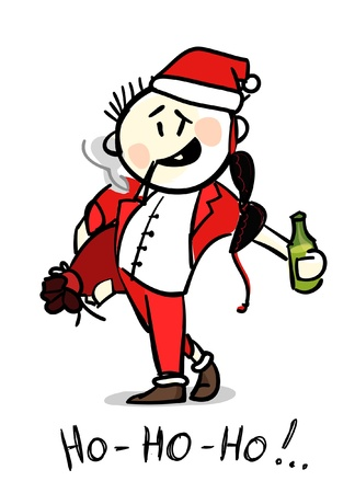 drunk santa Stock Vector - 11259074