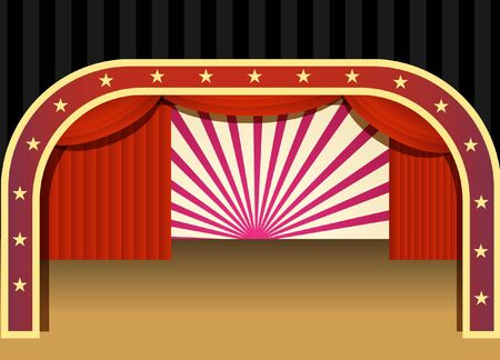 portiere: concert stage Illustration