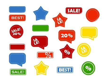 shop stickers  Vector
