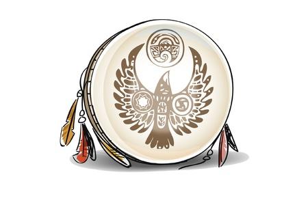 tambourine: tamburello Vettoriali