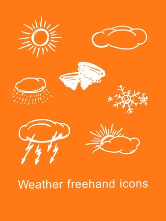 bad weather: Weather icons Illustration