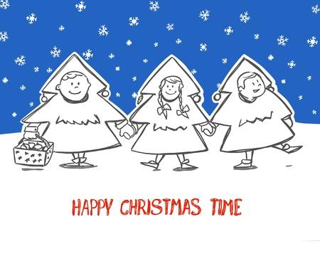 Happy Christmas! Vector