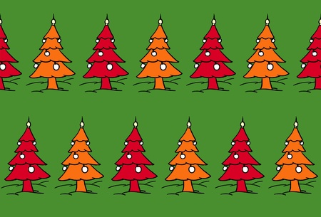 xmas trees forest Vector
