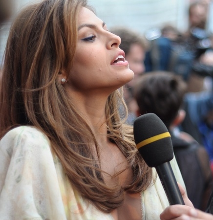 MOSCOW, RUSSIA - SEPTEMBER 12: Actress Eva Mendes arrives at the premiere for the film The Other Guys in Moscow on September 12, 2010, Russia.
