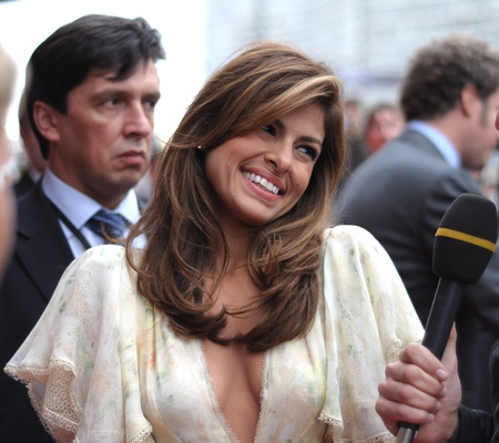 arrives: MOSCOW, RUSSIA - SEPTEMBER 12: Actress Eva Mendes arrives at the premiere for the film
