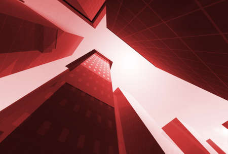 Abstract angle of skyscrapers Stock Photo - 11260485