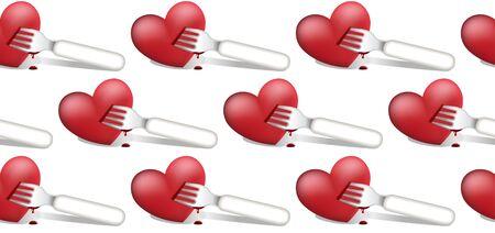 Valentine`s seamless background Stock Vector - 11260578