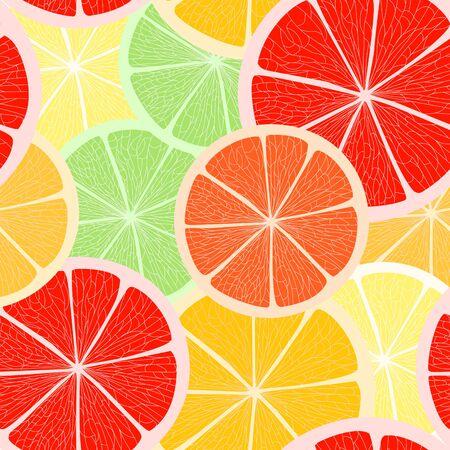Citrus seamless background Vector