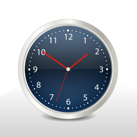 duration: Steel modern vector clock Illustration