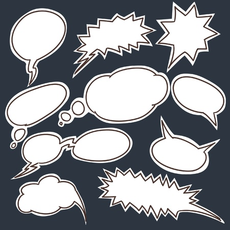 Set of comic style talk clouds Vector