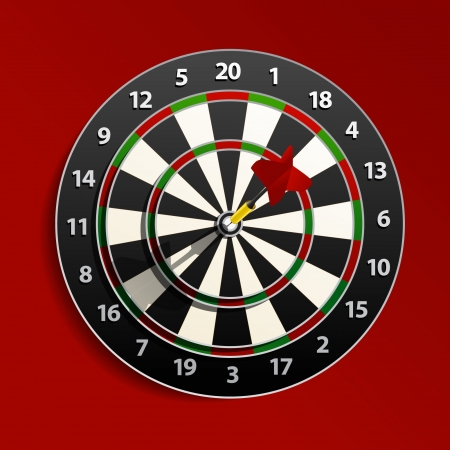 dart board: Dart is in the aim