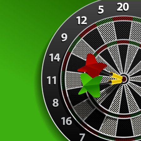 Two darts in aim Vector