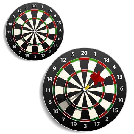 dart board:  Darts set