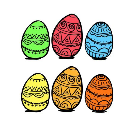 pasqua: Set of eggs Illustration