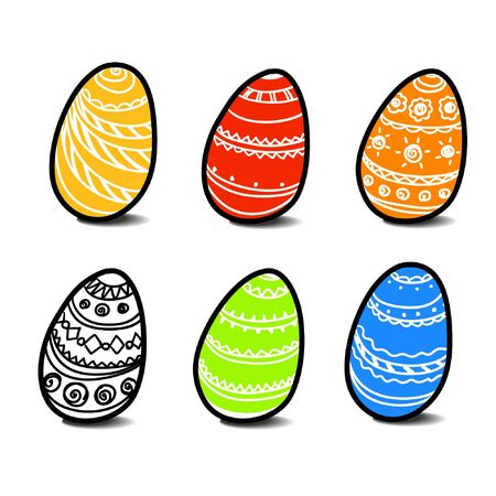 Set of easter eggs Stock Vector - 11258903