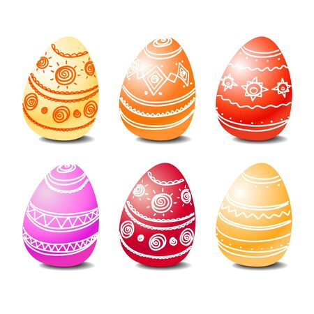 pasqua: Set of easter eggs