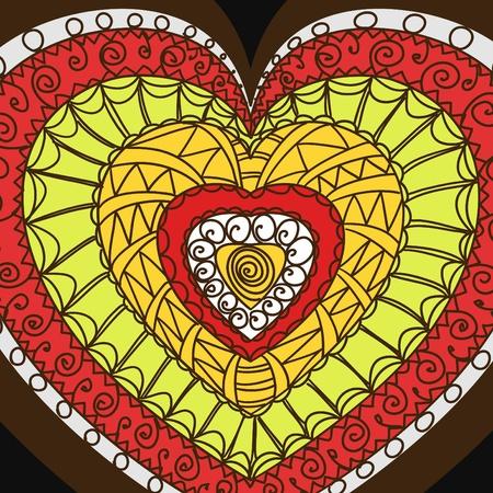 Ornament of hearts.   Vector