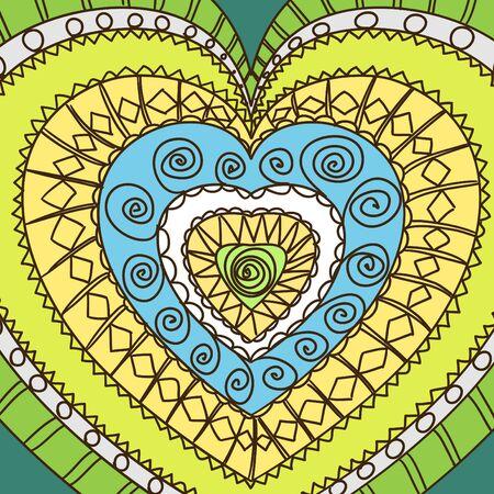 gamma: Ornamento de los corazones. gamma fr�a