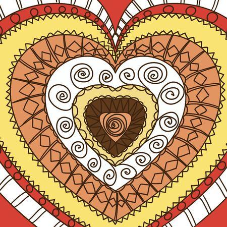 gamma: Ornamento de los corazones. Terra gamma
