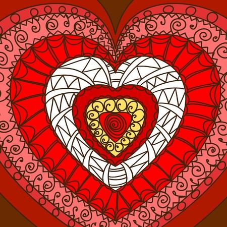 gamma: Ornamento de los corazones. Gamma caliente