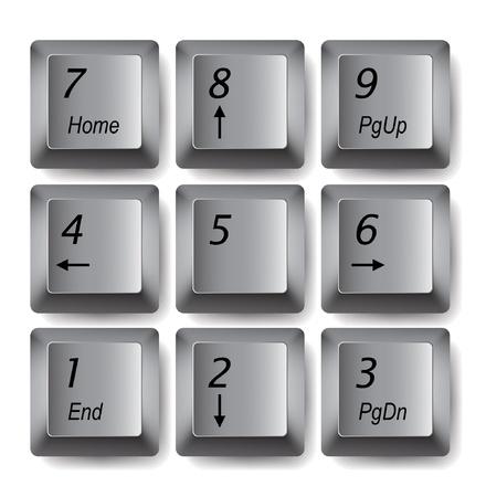 keypad: Vector keypad