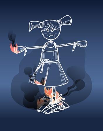 clothed: Dall sul fuoco Vettoriali