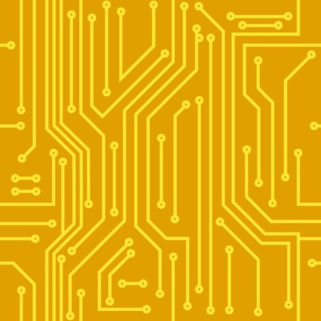 electric circuit: Computer chip background Illustration