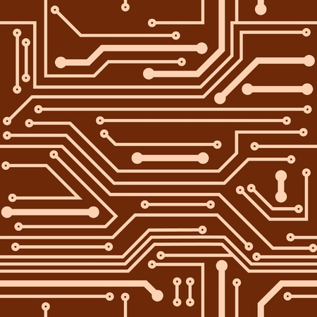 Computer chip background Vector