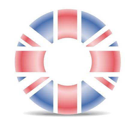 britain flag: Life buoy