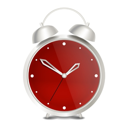 Steel modern vector alarm clock  Vector