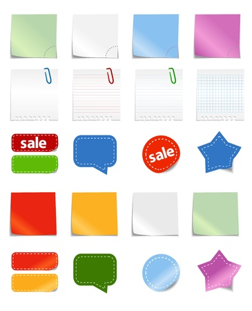 Paper stickers template Stock Vector - 11258915