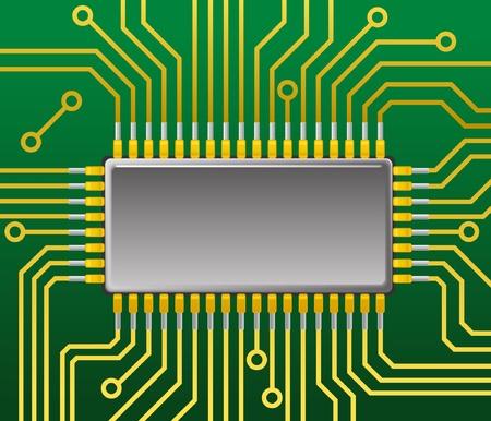 Motherboard Stock Vector - 11259011