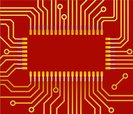 electrical part: Chip background